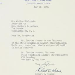 Letter : 1956 May 28