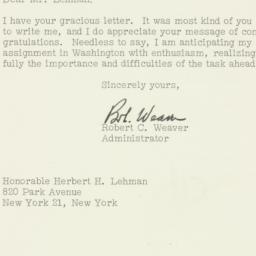 Letter : 1961 February 20