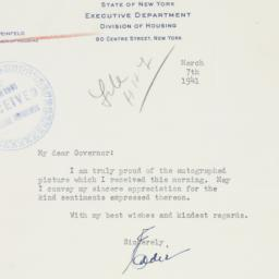 Letter : 1941 March 7