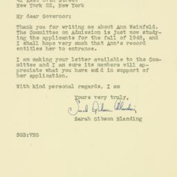 Letter : 1948 May 11