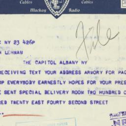 Telegram : 1933 September 23