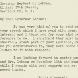Letter : 1947 November 4