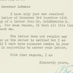 Letter : 1947 November 15