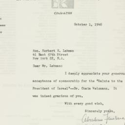 Letter : 1948 October 1