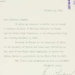 Letter: 1936 October 23
