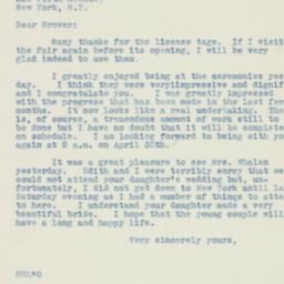 Letter: 1938 July 1