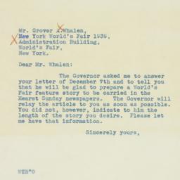 Letter: 1938 December 19