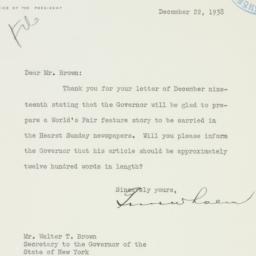 Letter: 1938 December 22