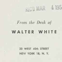 Ephemera : 1954 March 4