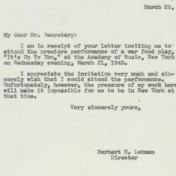 Letter : 1943 March 25