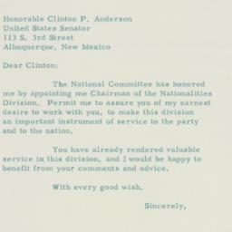 Letter : 1954 October 28