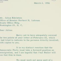 Letter : 1956 March 2
