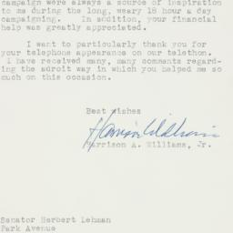 Letter : 1958 November 10