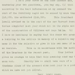 Letter : 1926 April 23