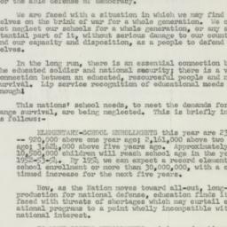 Letter : 1951 February 26