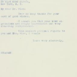 Letter : 1933 September 20