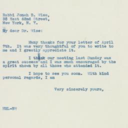 Letter : 1939 April 10