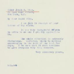 Letter : 1940 May 14