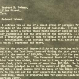 Letter : 1930 October 31