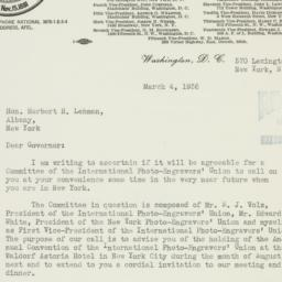 Letter : 1936 March 4