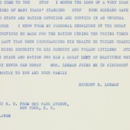 Telegram : 1934 May 4