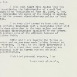 Letter : 1957 May 30