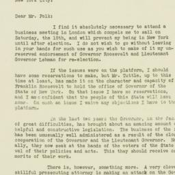Press Release: 1930 October 17