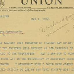 Telegram : 1935 May 4