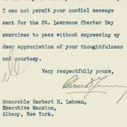 Letter : 1935 May 8