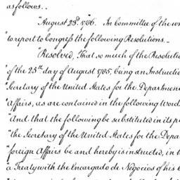 Document, 1786 August 28