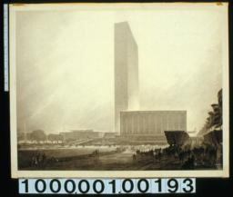 Preliminary study, United Nations Headquaters : north elevation : [Drwg] #156 /