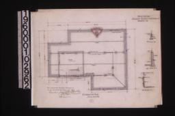 Foundation plan with sections : 1\,