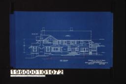 East elevation :Sheet no. 7.