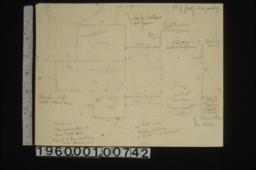 Sketch of 1st floor plan.