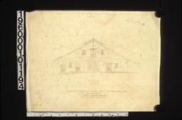 Sketch of proposed barn -- front elevation :#B.