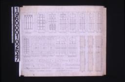 Door details -- elevations and full size sections : Sheet number seven,