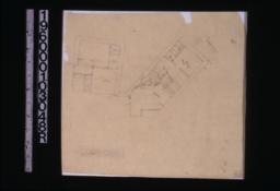 Sketch of plan of kitchen and servants quarters.