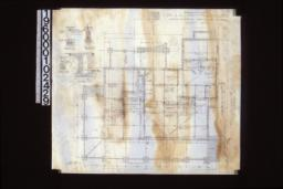 """Foundation plan; foundation details -- post footing\, wall section (see elevations for height of walls)\, porch piers\, section """"C-C"""" :Sheet no. 1."""