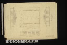 South elevation, plan, east elevation, north elevation :Sheet no. 1.
