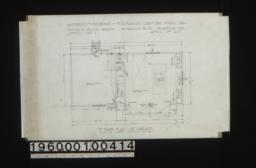 1st floor plan of garage :Sheet no. 1\,