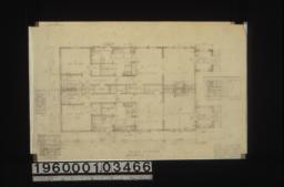 Main floor plan (make both sides alike); detail drawings -- medicine case\, kitchen sink\, dining rm. buffets\, arch in dining room :Sheet no. 1. (2)