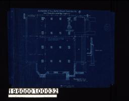 Foundation plan of vestibule end of church ; two sections through foundation :No.1.