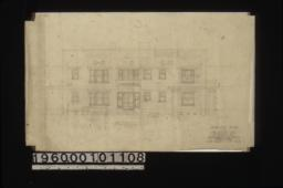 West elevation : Sheet no. 6.