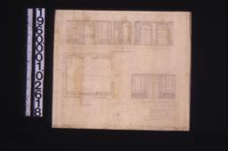 Plan; south elevation\, part west elev\, east elevation\, north elevation :Sheet no. 1.