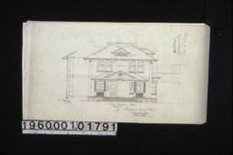 Front elevation (west)\, section through wall :4.