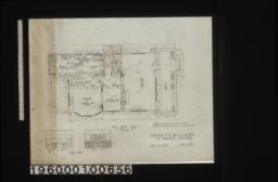 First floor plan; interior details -- fireplace in lining r'm\, sideboard in dining r'm : Sheet no. 2.