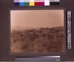 Distant view of house.