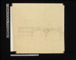 Longitudinal section through vestibule end of aisle
