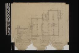 "Foundation plan\, with 1 1/2"" scale details : Sheet no. 1."