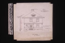Front elevation with section through wall :3\,